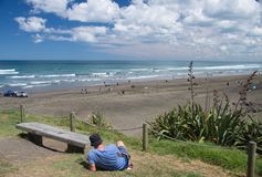 Muriwai Beach, New Zealand Royalty Free Stock Images