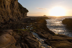 Muriwai Beach. Sunset at Muriwai Beach, New Zealand Royalty Free Stock Images