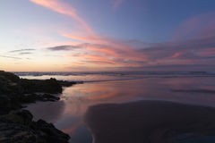 Muriwai Beach. Sunset at Muriwai Beach, New Zealand Stock Image