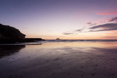 Muriwai Beach. Sunset at Muriwai Beach, New Zealand Royalty Free Stock Photography