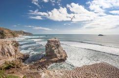 Muriwai plaża Zdjęcia Royalty Free