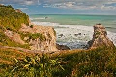 Muriwai strand på den norr ön av Nya Zeeland Royaltyfri Foto