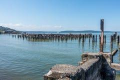 Murkna Pier Pilings 3 Royaltyfri Foto