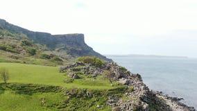 Murlough海湾在北部爱尔兰-鸟瞰图 股票录像