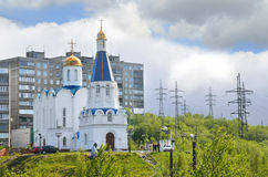 Murmansk. Church of the Savior on Waters (Church of the Vernicle) Stock Photos
