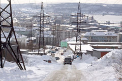 Murmansk city Stock Photography