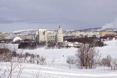 Murmansk city Stock Images