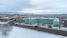 Murmansk cityscape Royaltyfria Bilder