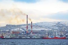 Murmansk cityscape Stock Image