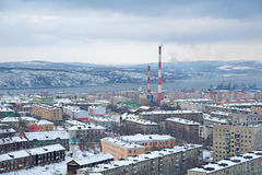 Murmansk cityscape Stock Photo