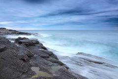 Murmansk coast. Storm on Barents sea. Kola peninsula, Murmansk region, Russia royalty free stock photos