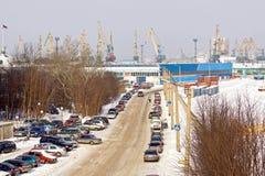 Murmansk, freight port Stock Photos
