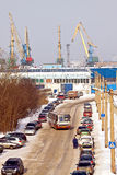 Murmansk, freight port Royalty Free Stock Photography