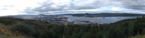 Murmansk hamn Royaltyfria Bilder