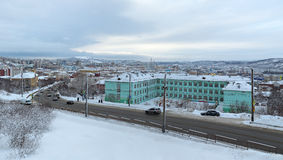 Murmansk pejzaż miejski Obrazy Royalty Free
