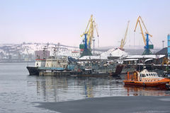 In Murmansk port Stock Photo