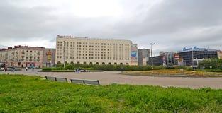 MURMANSK, RÚSSIA A vista do hotel meridiano do congresso Imagens de Stock