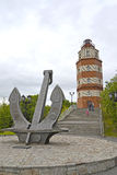 MURMANSK, ROSJA Pomnik Ku pamięci żeglarzów które gubili w pokoju czasie Zdjęcia Royalty Free