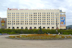 MURMANSK, RUSSIA. The view of Meridian congress  hotel Royalty Free Stock Photography