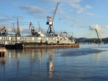 Murmansk sea port Stock Photography
