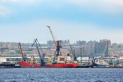Murmansk ship-repair factory Royalty Free Stock Images