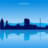 Murmansk Vector skyline. Murmansk Russia Vector detailed skyline with reflexion Stock Photos