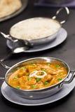 Murmeln Sie Paneer, Paneer-Käse und Gemüse in einer würzigen Soße Stockfotos