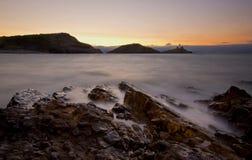 Murmelt Leuchtturm Wales Stockfotografie