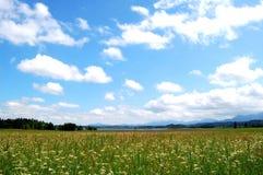 Murnauer amarrent avec le ciel nuageux, Bavière, Allemagne Photographie stock