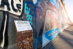 Muro de Berlín de la galería de la zona este fotografía de archivo libre de regalías