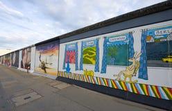 Muro de Berlín, galería de la zona este Imagen de archivo
