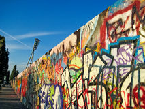 Muro de Berlim Imagens de Stock