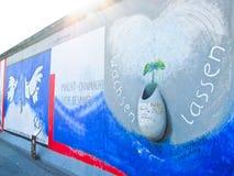 Muro de Berlim em Berlim, Alemanha Foto de Stock