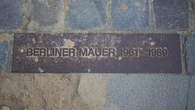 Muro de Berlim Placa de metal Foto de Stock