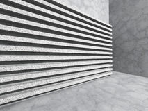 Muro de cemento abstracto Fondo de la arquitectura del modelo de la raya Foto de archivo libre de regalías