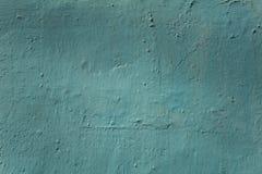 Muro de cemento azul viejo con los rasguños y los daños Textura de la superficie áspera fotografía de archivo libre de regalías