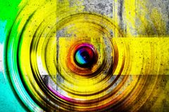 Muro de cemento colorido imagenes de archivo