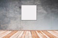 Muro de cemento con el cuadrado de la imagen Foto de archivo libre de regalías
