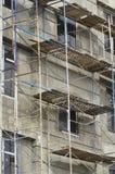 Muro de cemento desnudo sin revestimiento en una nueva casa Fotografía de archivo libre de regalías