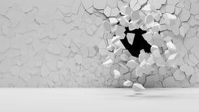 Muro de cemento quebrado Fotografía de archivo