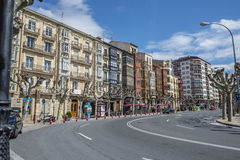Muro de Cervantes street of Logroño, Spain. Royalty Free Stock Photos