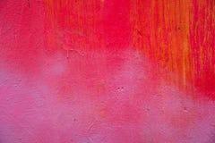 Muro de cimento abstratamente pintado Fotos de Stock Royalty Free