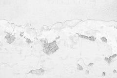 Muro de cimento branco velho da quebra Fotos de Stock Royalty Free