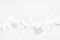 Muro de cimento branco velho da quebra Fotos de Stock