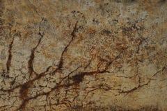 Muro de cimento com quebras Fotos de Stock