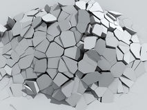 Muro de cimento de desintegração Fotos de Stock