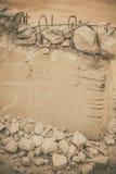 Muro de cimento demulido Foto de Stock