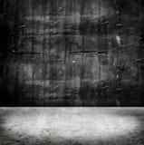 Muro de cimento do Grunge e assoalho vazios do cimento, fundo da textura Imagens de Stock Royalty Free