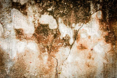 Muro de cimento muito desarrumado Fotografia de Stock Royalty Free