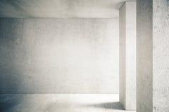 Muro de cimento no interior ilustração do vetor